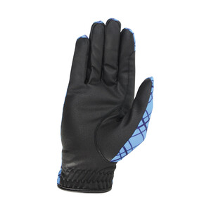 Hy Equestrian Hy5 Lightweight Printed Riding Gloves - Blue/Check