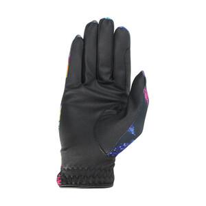 Hy Equestrian Hy5 Lightweight Printed Riding Gloves - Leaf Pattern