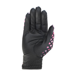 Hy Equestrian Hy5 Lightweight Printed Riding Gloves - Pink Check