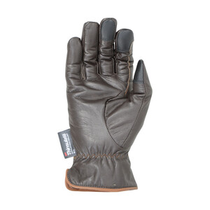 Hy Equestrian Hy5 Thinsulate Leather Winter Riding Gloves - Dark Brown/Tan Stitch