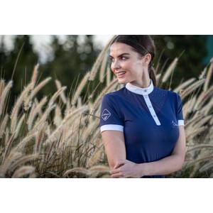 LeMieux Amelie Diamante Show Shirt Navy