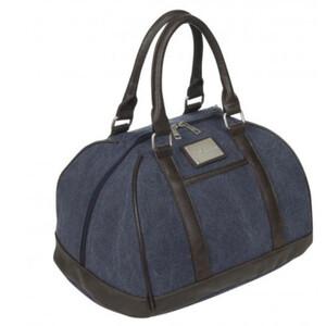 LeMieux Luxury Canvas Hat Bag - Grey in Navy
