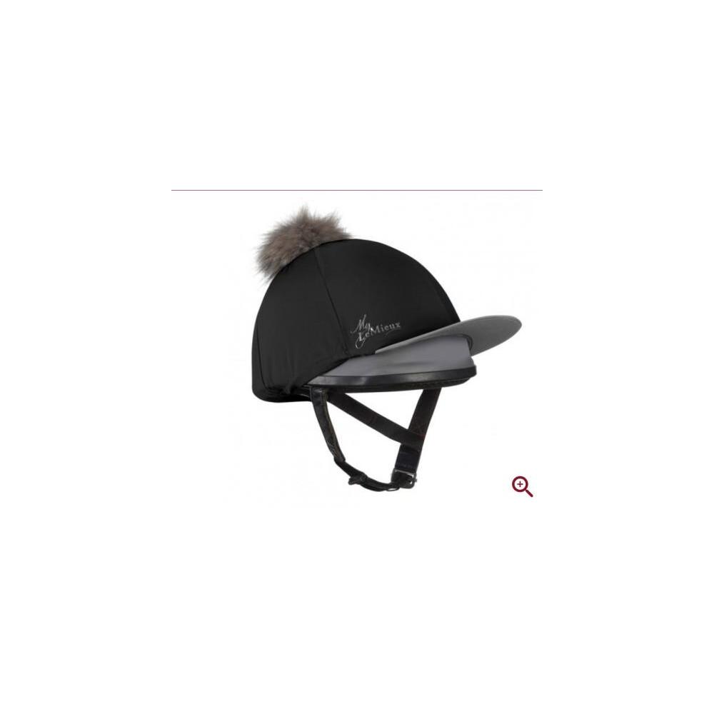 LeMieux Pom Pom Hat Silk - Black in Black