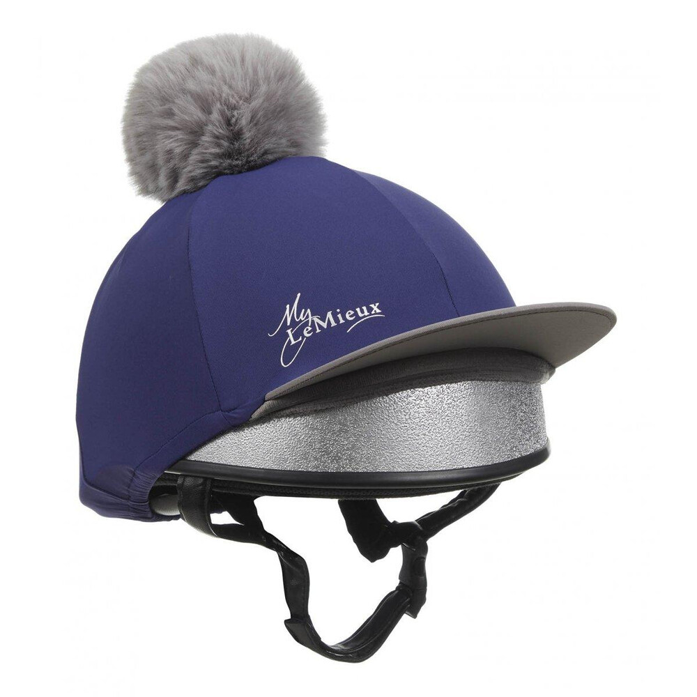 LeMieux Pom Pom Hat Silk - Ink Blue in Ink Blue
