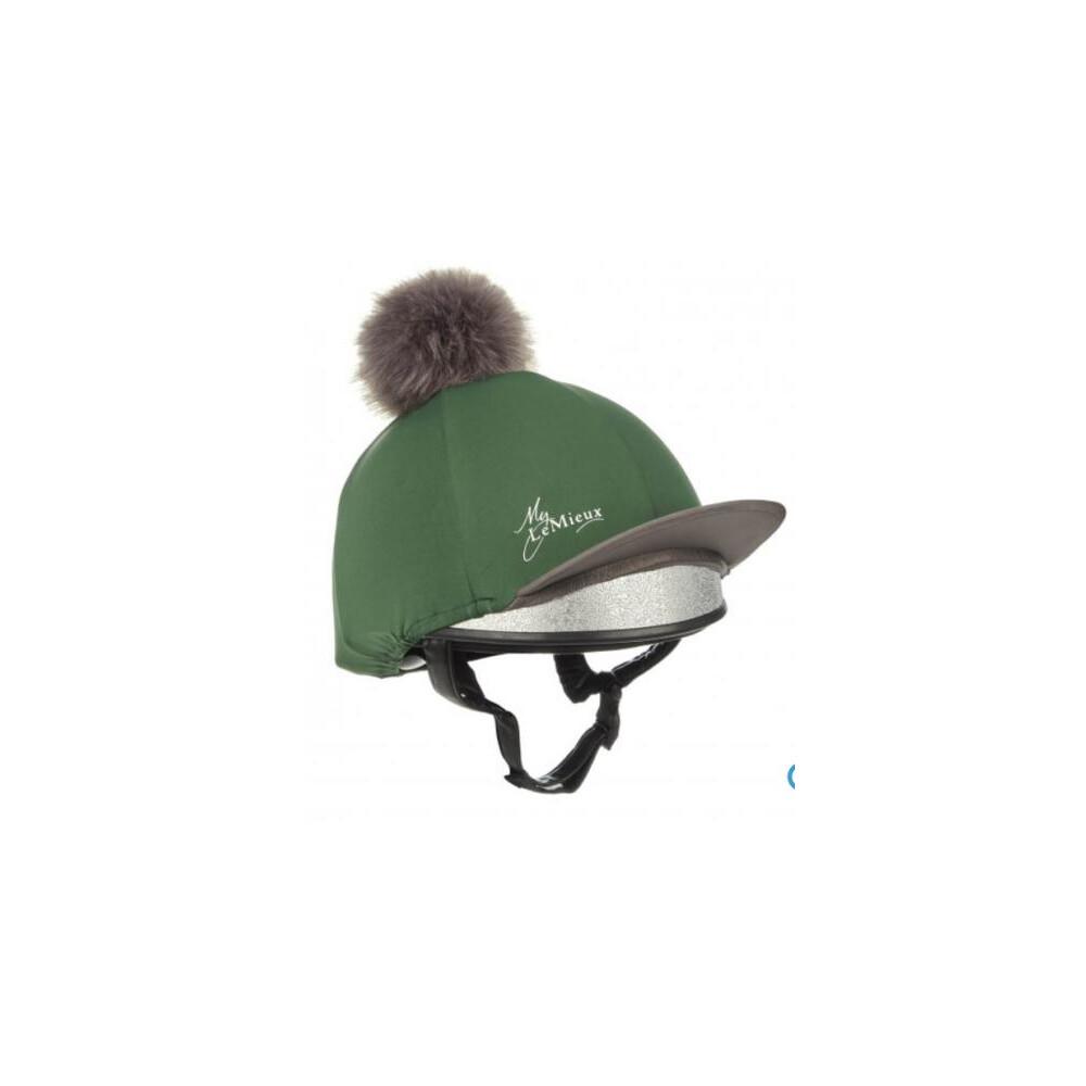 LeMieux Pom Pom Hat Silk Chilli in Hunter Green