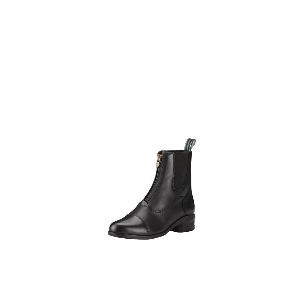 Ariat Womens Heritage IV Zip Paddock Boot Black in Black