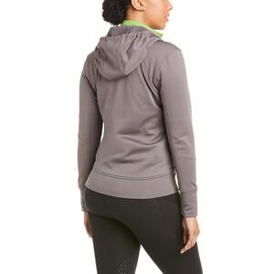 Ariat Womens Keats Full Zip Hoodie Plum Grey in Plum/Grey