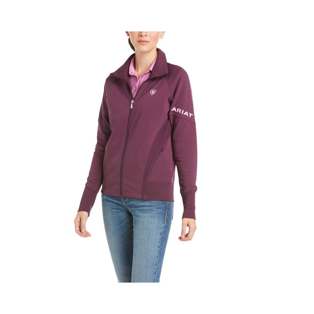 Ariat Womens Largo Full Zip Sweatshirt Italian Plum in Italian Plum