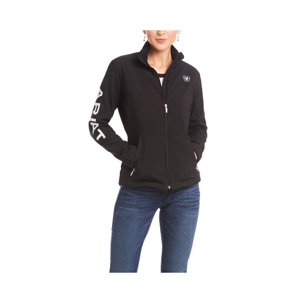 Ariat Womens New Team Softshell Jackt Black in Black
