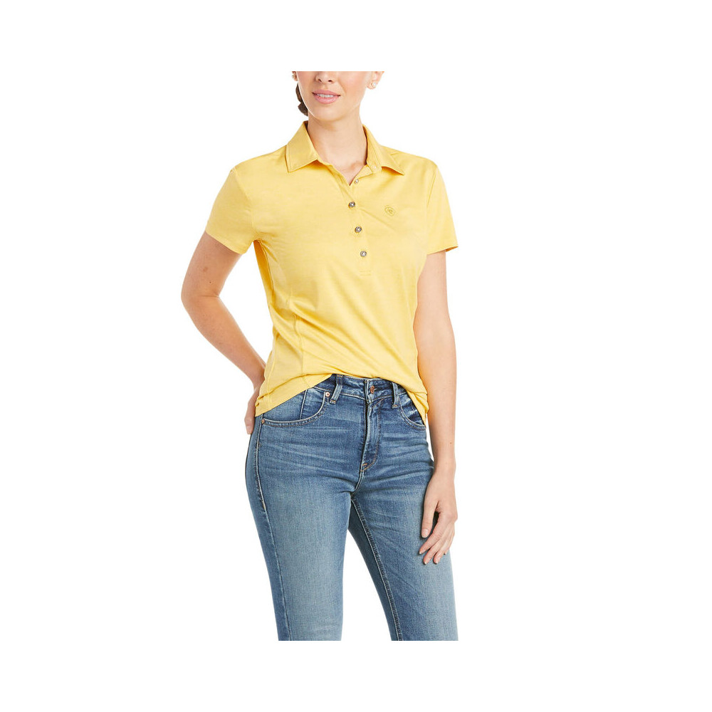 Ariat Womens Talent Polo Local Honey in Local Honey