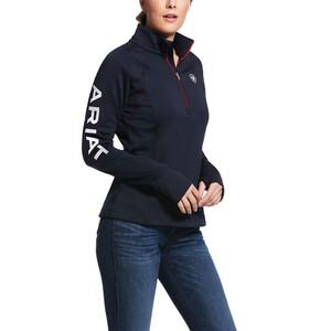 Ariat Womens Tek Team 1/4 Zip - Navy in Team