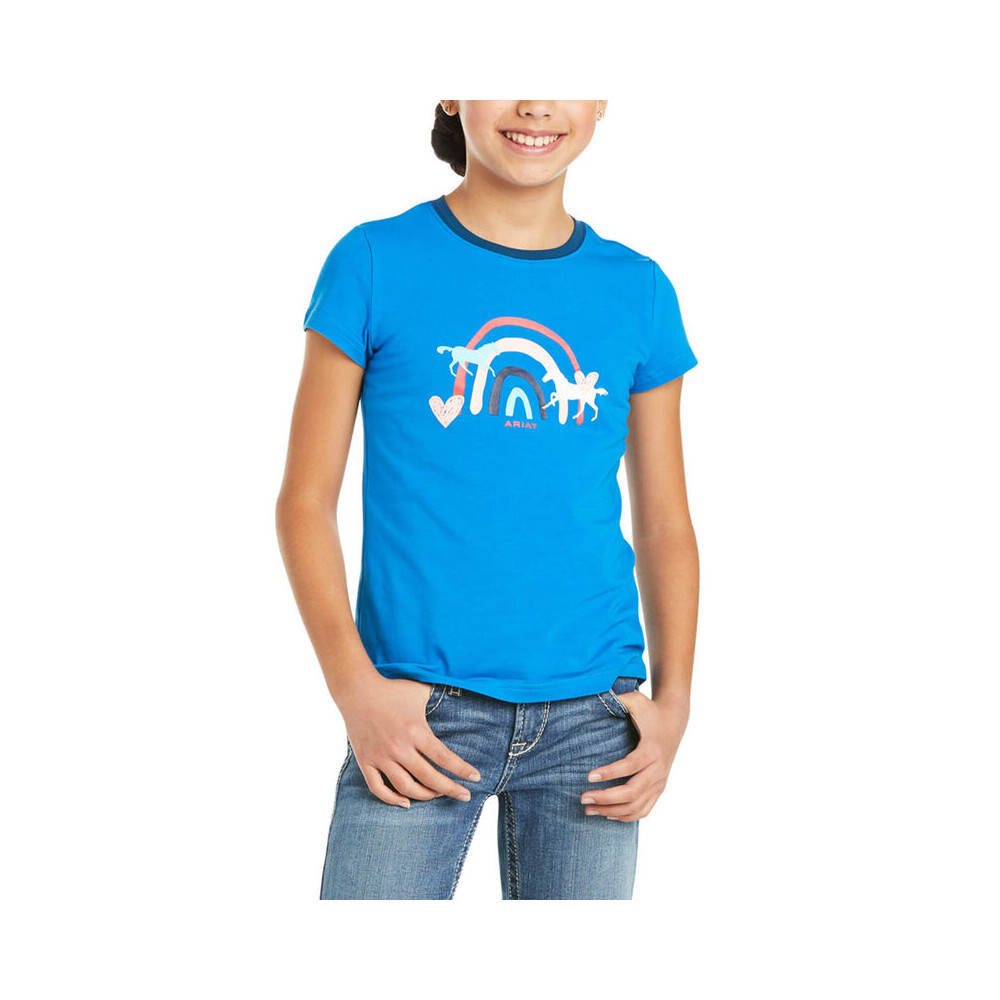 Ariat Youth Rainbow Wishes T-Shirt Navy in Navy