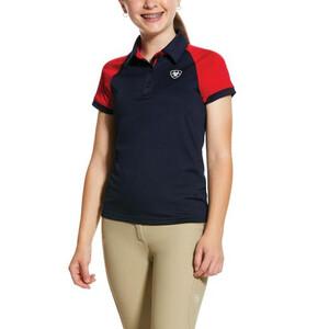 Ariat Youths Team 3.0 Short Sleeve Polo Navy
