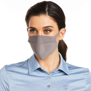 Ariat tek Face Mask Plum Grey in Plum/Grey