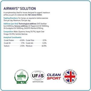 Equine America Airways Solution - 500ml
