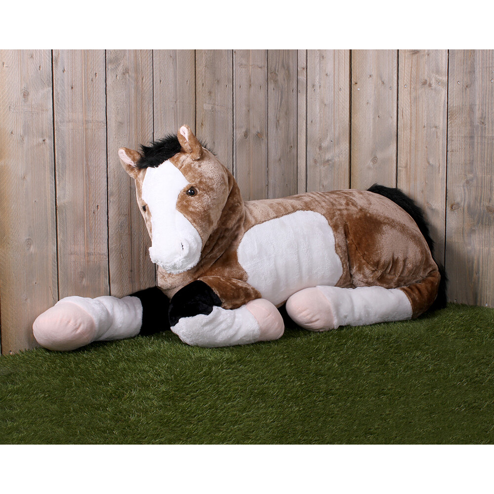 QHP Plush horse toy Star Brown in Brown