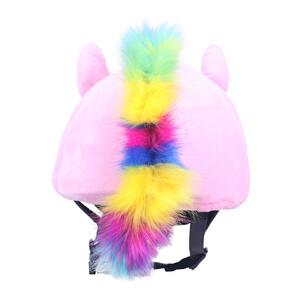 QHP Helmet cover Unicorn Pink