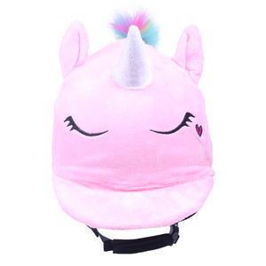 QHP Helmet cover Unicorn Pink in Pink