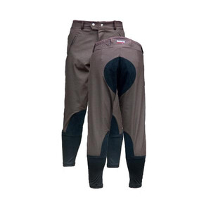 Celtic Equine Supplies Breeze Up 3/4 length EXERCISE Breeches - Mouse Brown in Brown