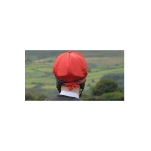 Celtic Equine Supplies Breeze Up Lycra Hat Cover with Bobbin in Red