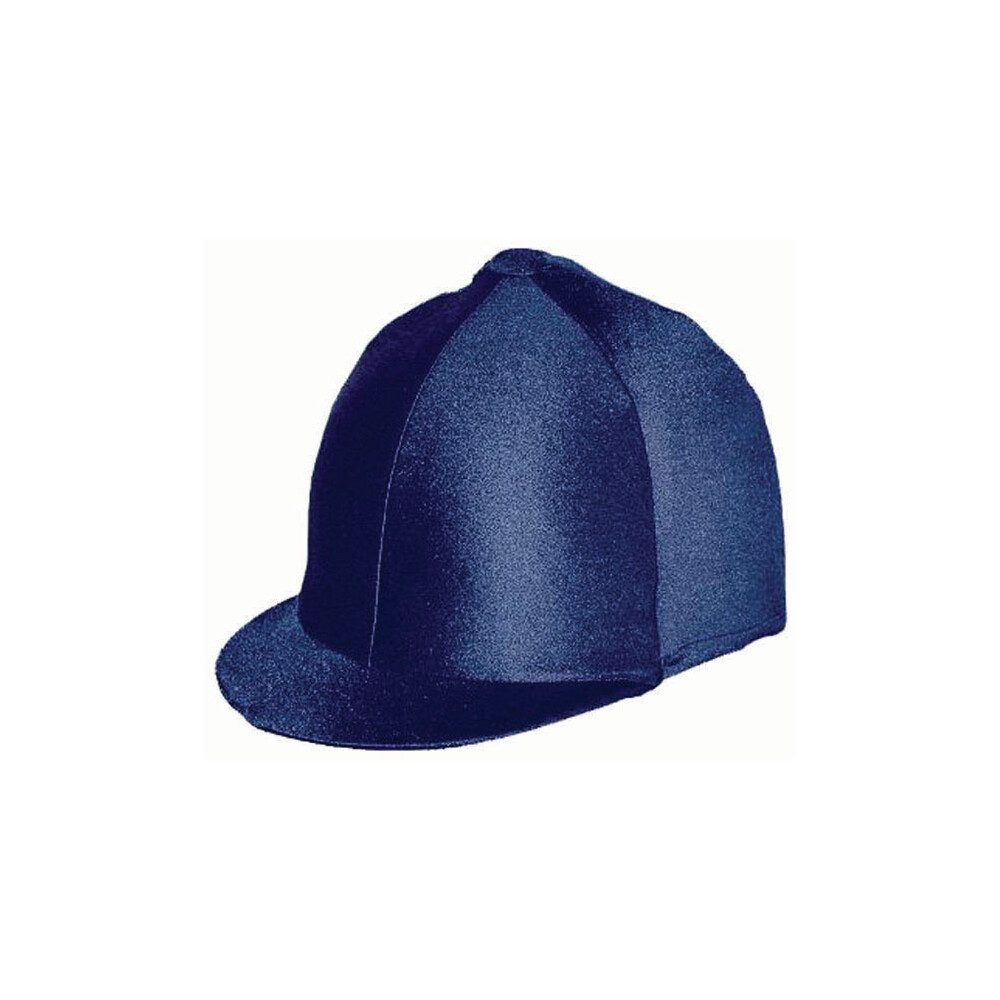 Celtic Equine Supplies Lycra Hat Cover in Navy