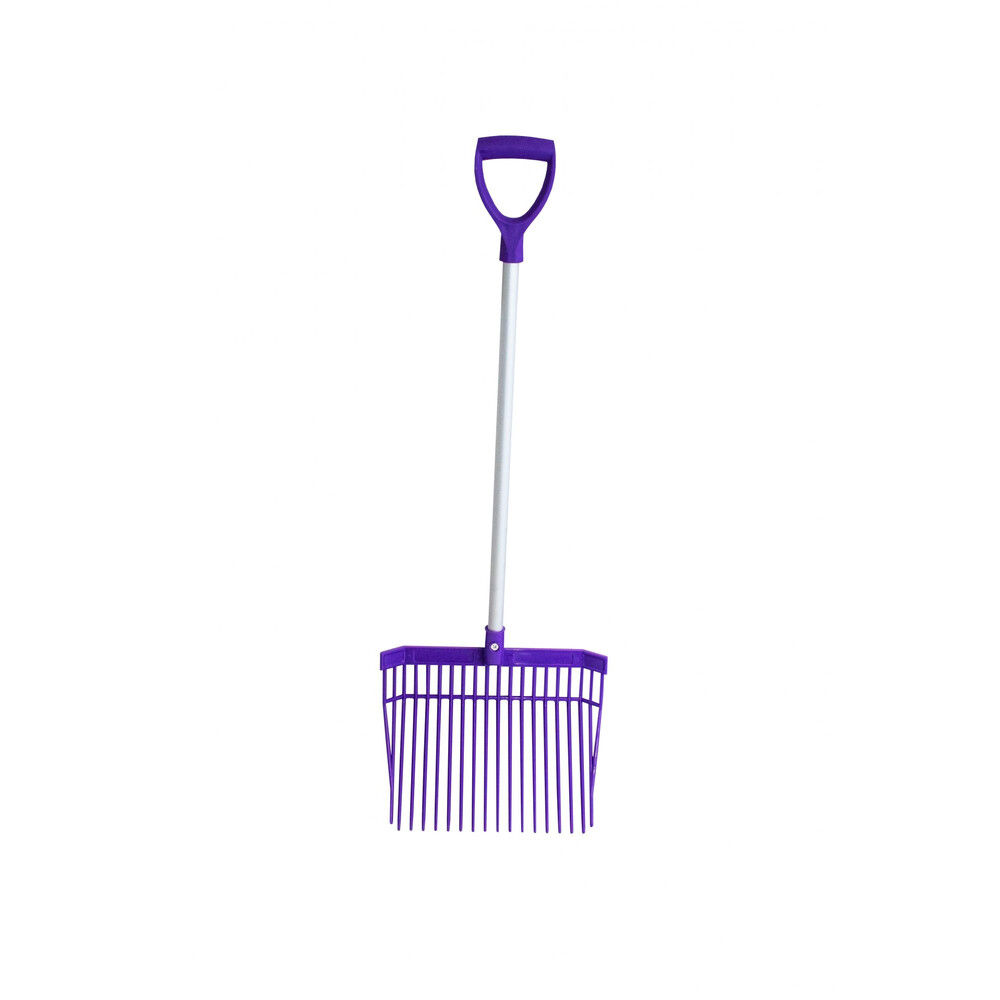 Red Gorilla PC Bedding Fork Short Handle in Purple