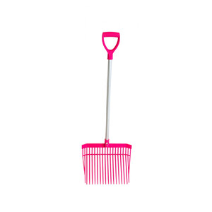 Red Gorilla PC Bedding Fork Short Handle in Pink