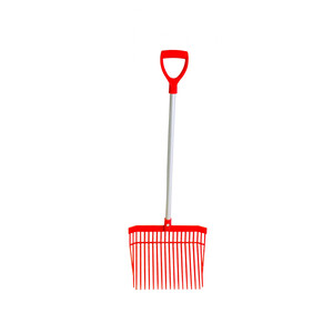 Red Gorilla PC Bedding Fork Short Handle in Red