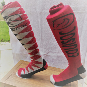 EquiSoc Equisoc James 1 -  Red/Black/Grey in Red/Black/Grey