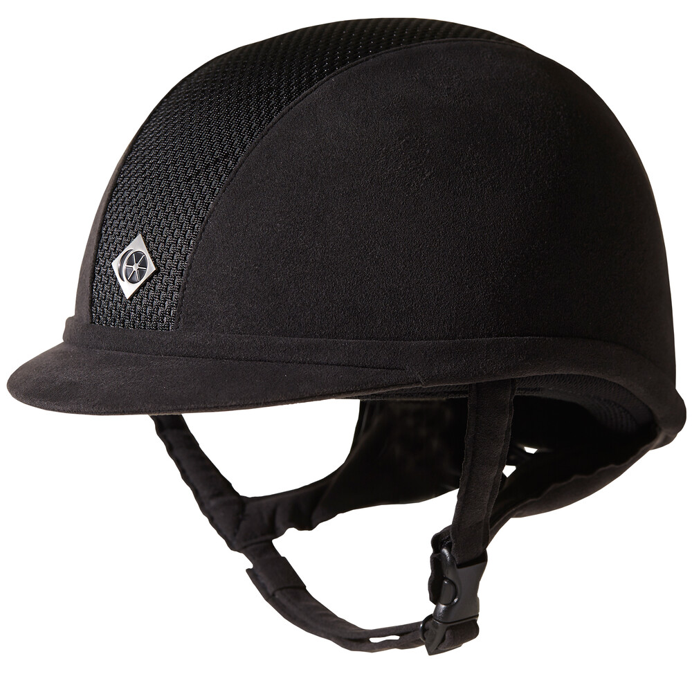 Charles Owen Ayr8 Plus - Micorsuede Riding Hat  - Black (removable lining) in Black