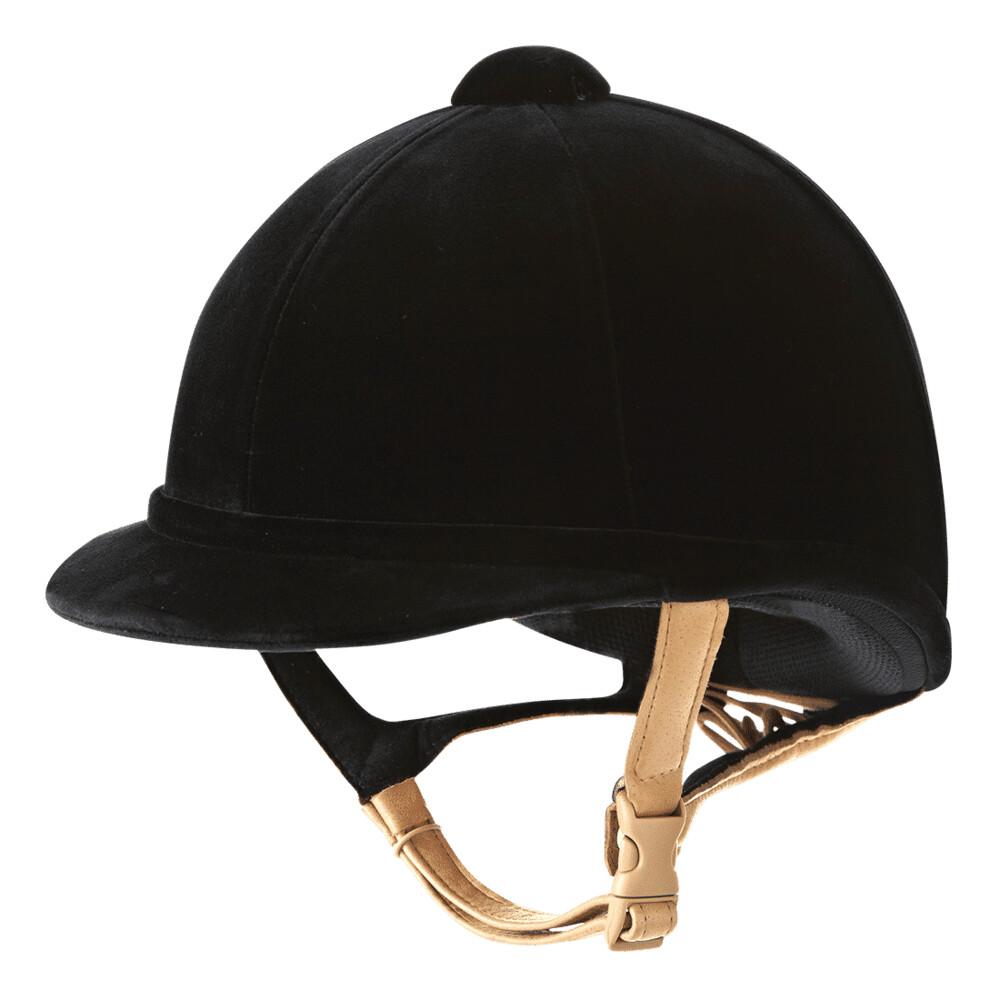Charles Owen Hampton Velvet Riding Hat - Black in Black