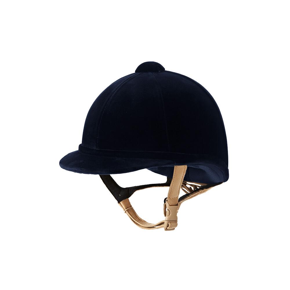 Charles Owen Hampton Velvet Riding Hat - Navy in Navy