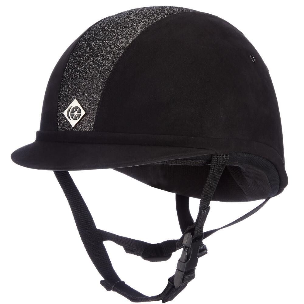 Charles Owen YR8 Hat Sparkly Black in Black