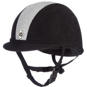 Charles Owen YR8 Hat Sparkly Black/Silver in Black/Silver