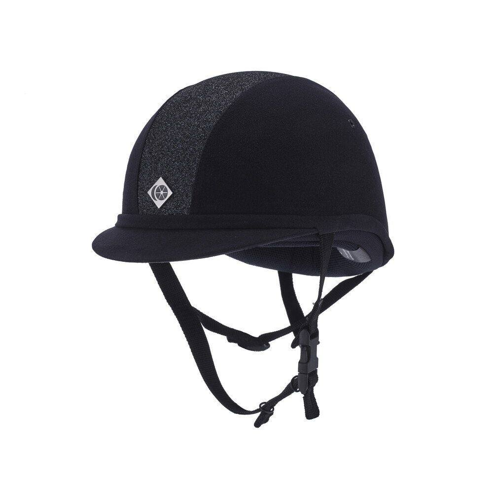 Charles Owen YR8 Hat Sparkly Navy Midnight Shine in Navy/Midnight Shine
