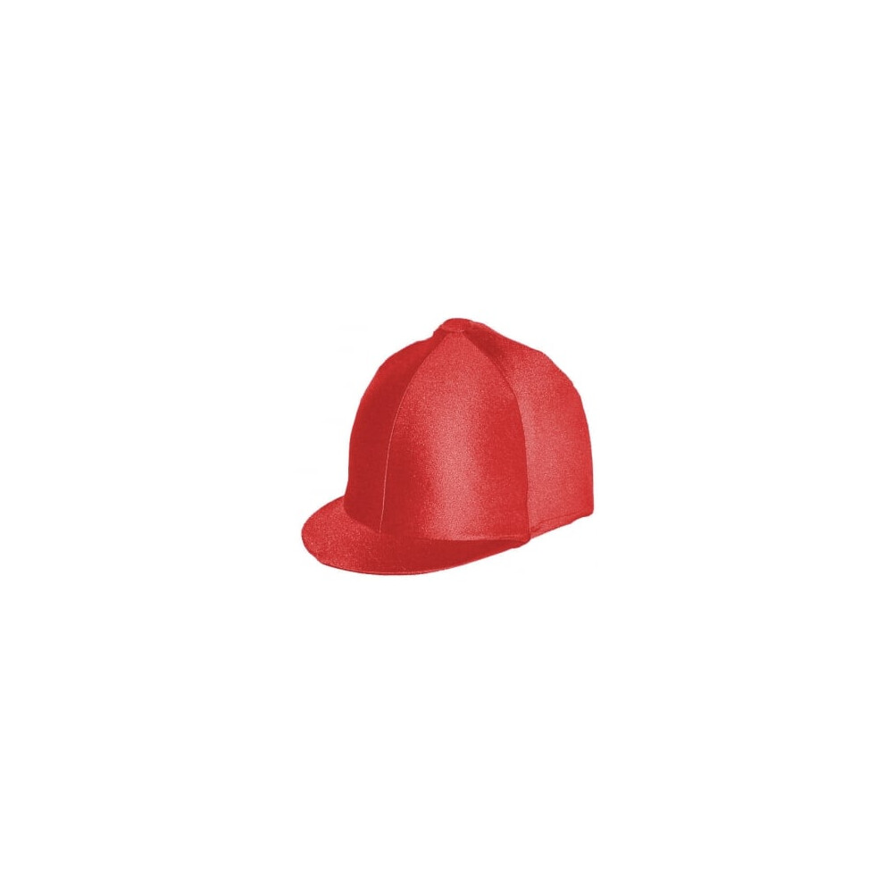 Capz Lycra Hat Cover Plain in Red