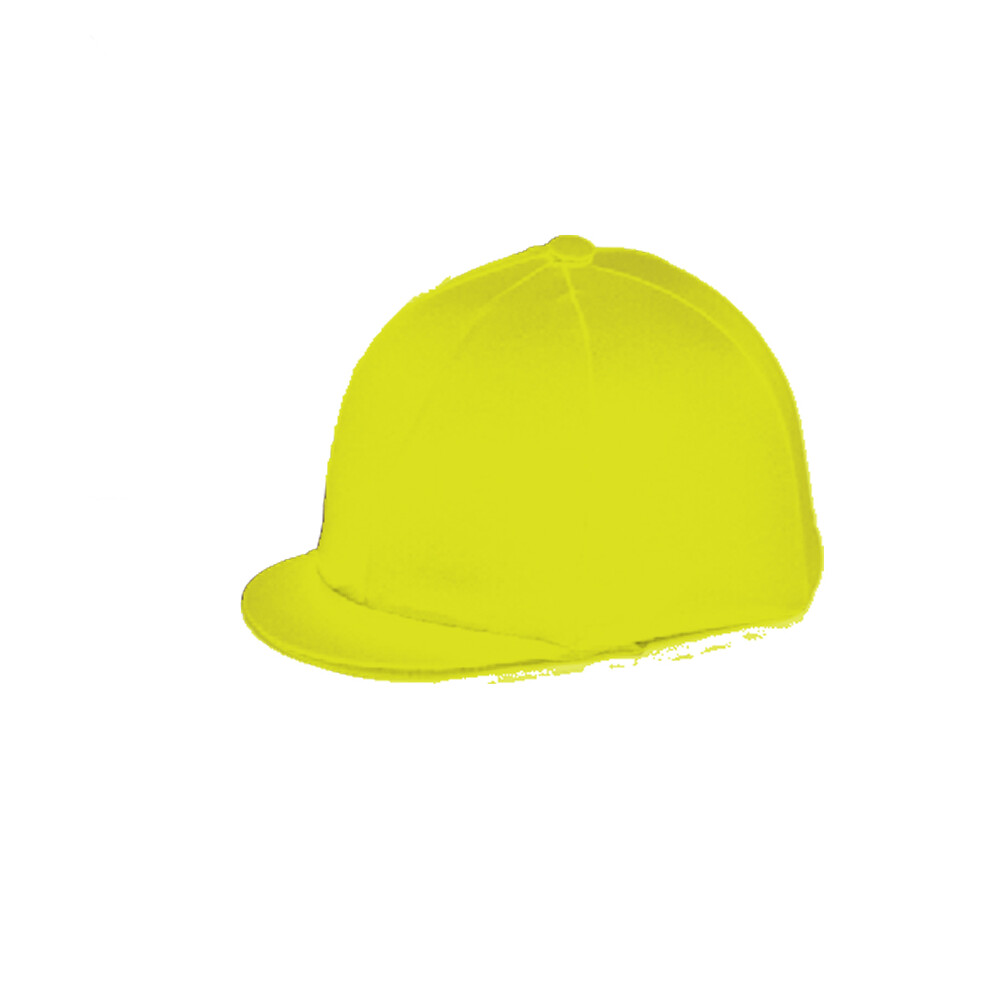 Capz Lycra Hat Cover Plain in Yellow