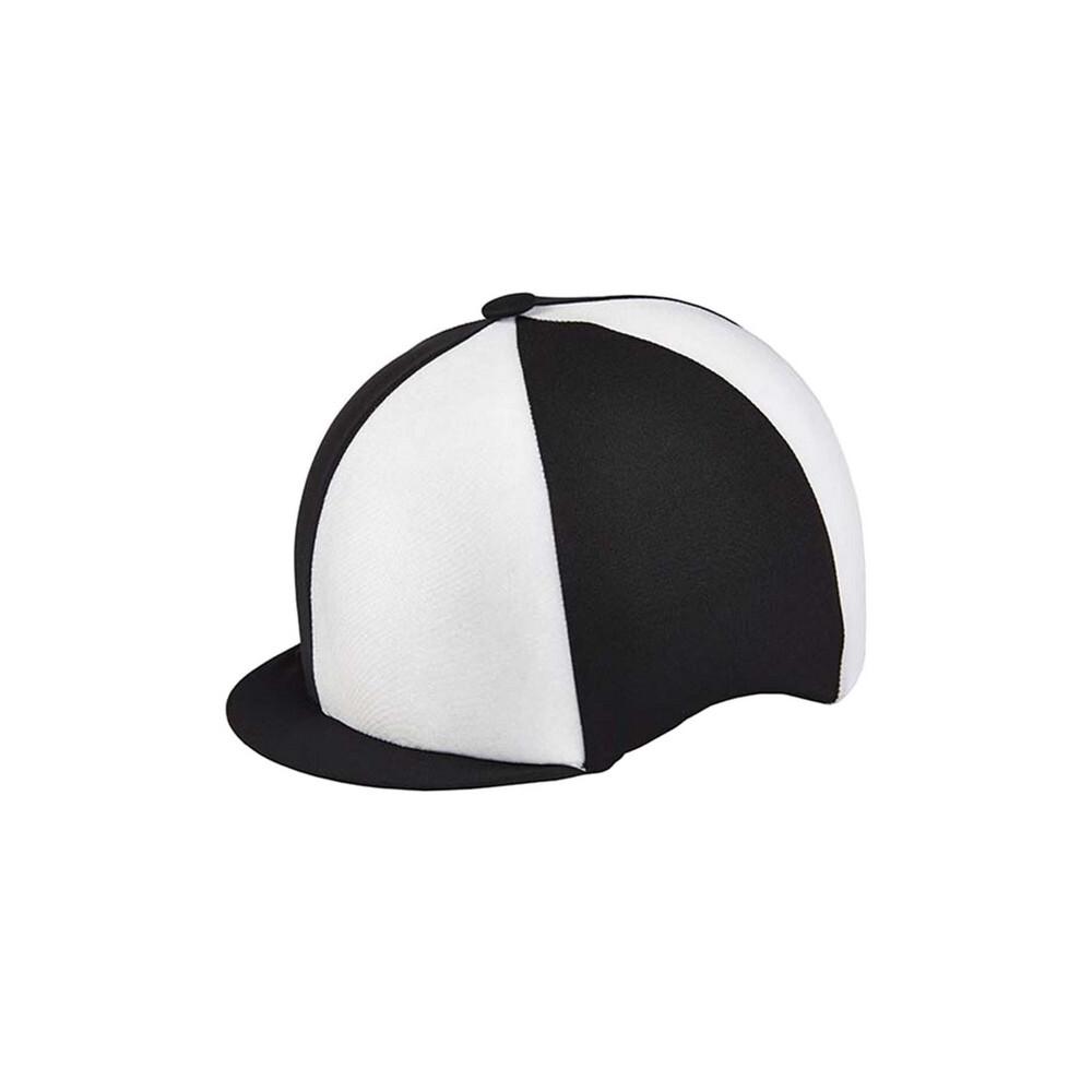 Capz Lycra Hat Cover Quartered in Black/White