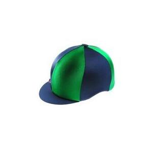 Capz Lycra Hat Cover Quartered in Dark Green/Navy