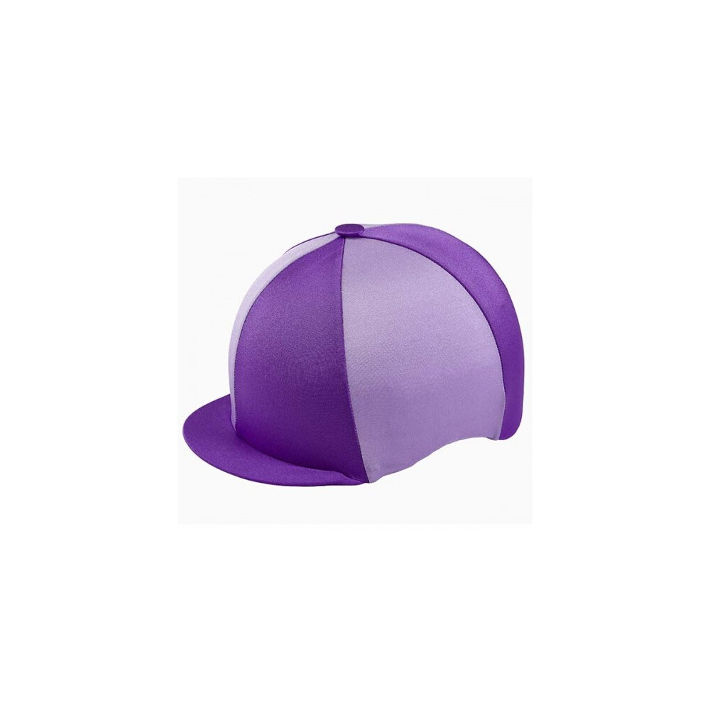 Capz Lycra Hat Cover Quartered in Purple/Lilac