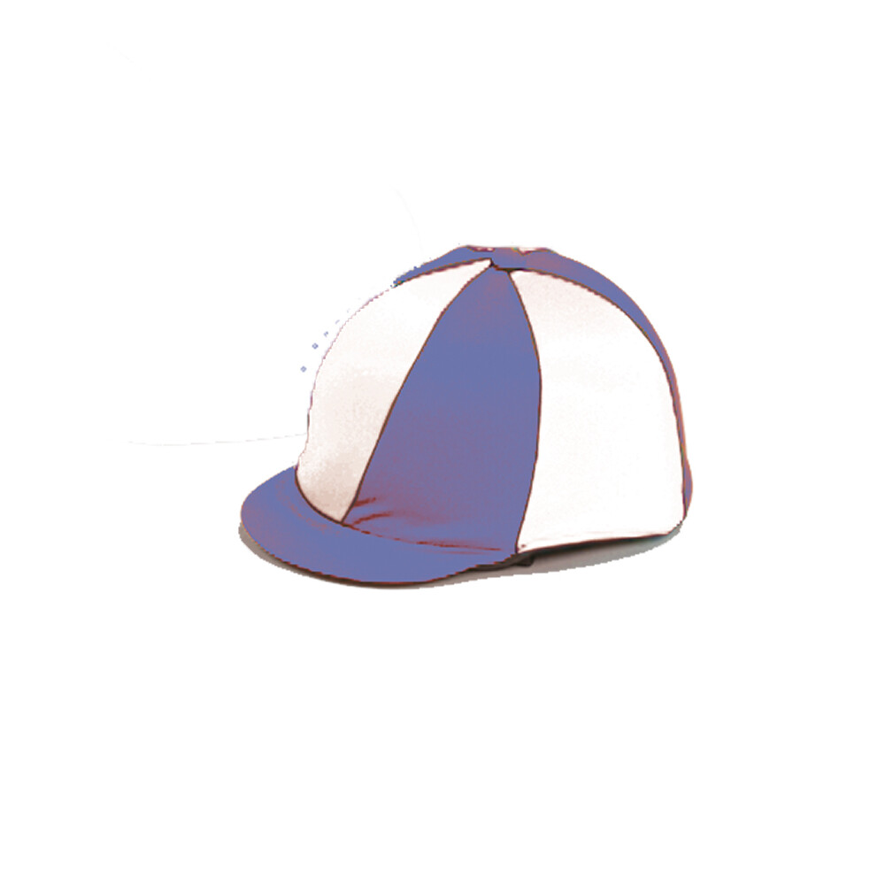 Capz Lycra Hat Cover Quartered in Royal Blue/White