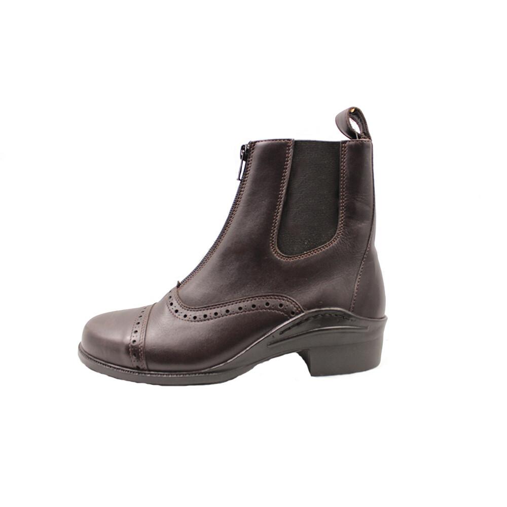 Mackey Beech Zip Boots in Brown