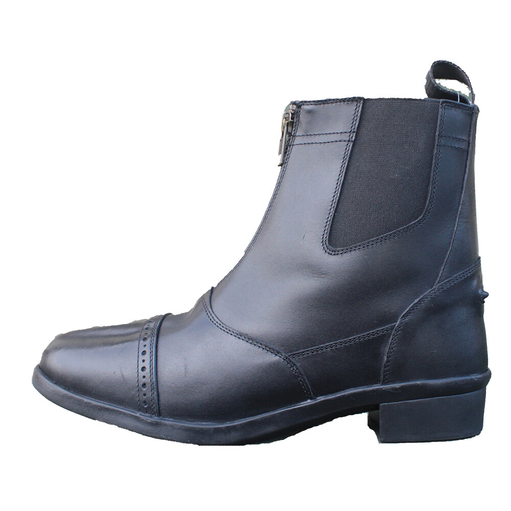 Mackey Holly Zip Boot - Black in Black