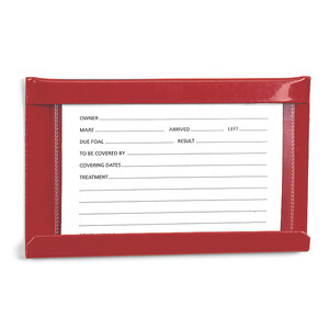 Stubbs S26 Large Stud Card Or Stable Name Holder (S26) 6x4 in Red