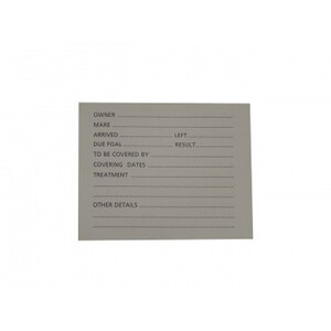 Stubbs Spare Card for S26 15cm x 10cm Large Holder- Single in White