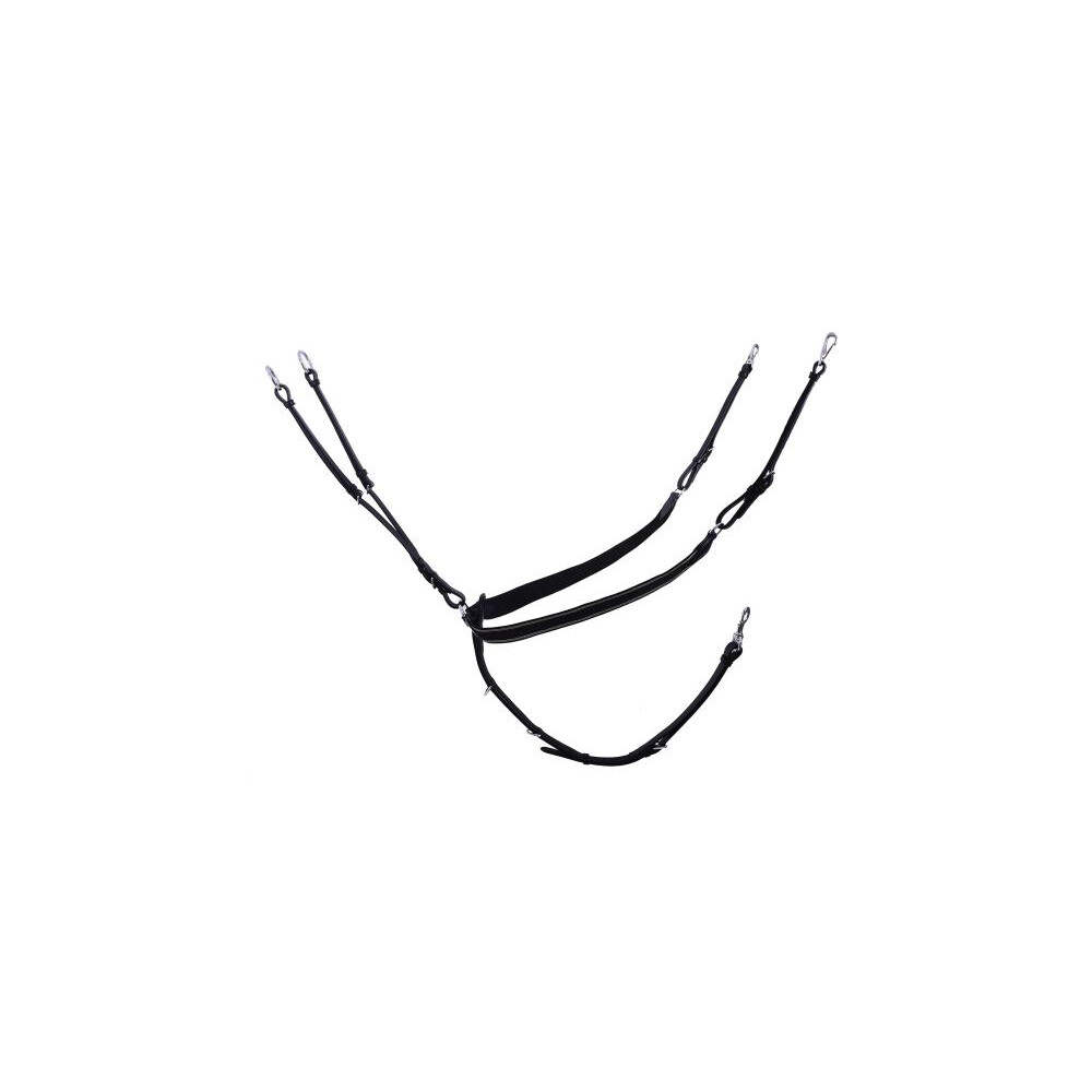 Schockemohle Pro Jump Plus Breastplate in Black/Silver