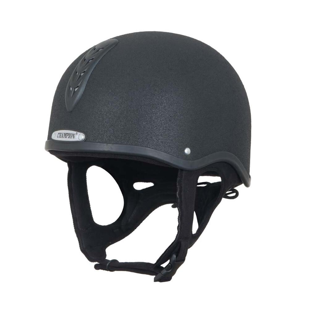 Champion Junior X-Air Plus Jockey Helmet - Black in Black