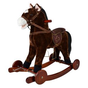 Equitheme Equi-Kids Rocking Horse - Saddled Horse in Dark Brown