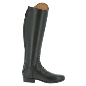Equitheme Primera Lisse Tall Boot - Large Calf - Black in Black