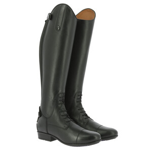 Equitheme Primera Lisse Tall Boot - Small Calf - Black in Black